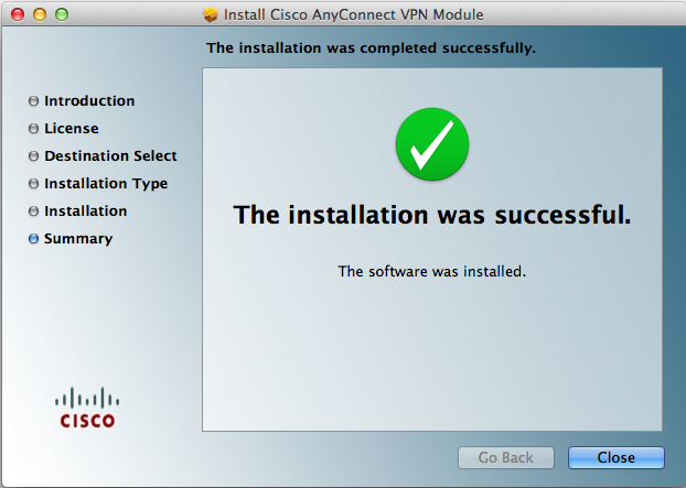Screen image: Install Succeeded.