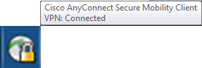 Screen image: VPN: Connected.