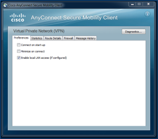 Screen image: Virtual Private Network (VPN).