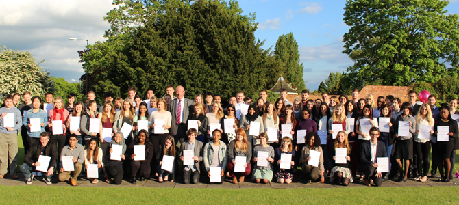 Employability Award celebrations - students photographed with the VC