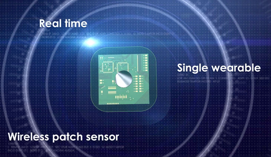 Wearable sensor - for real-time, continuous monitoring of