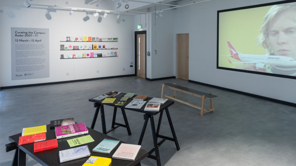 Curating campus exhibition by LU Arts celebrating 10 years of contemporary arts programme Radar