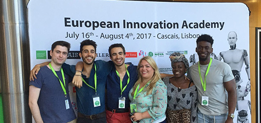 Loughborough students and graduates at the EIA conference in Lisbon