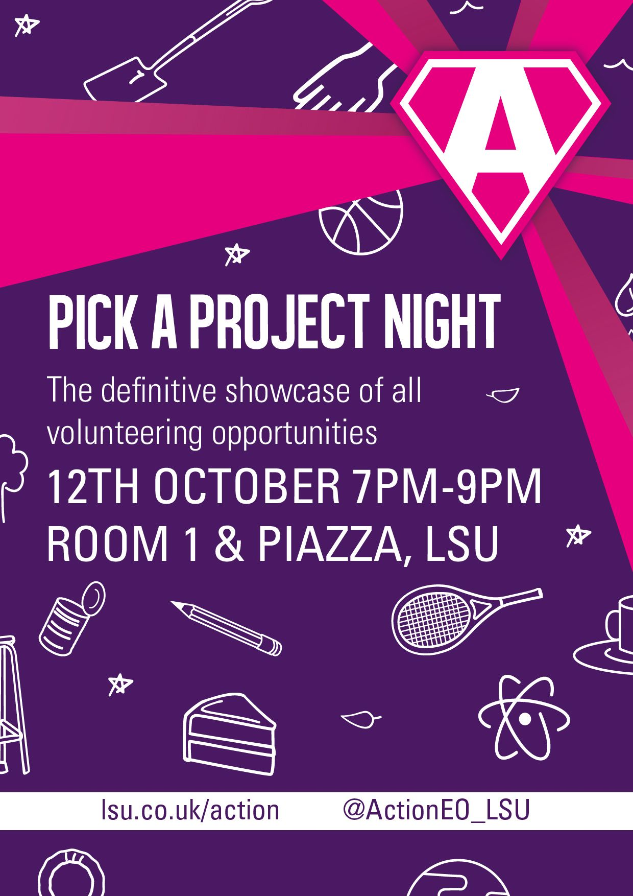 poster advertising Pick a Project evening
