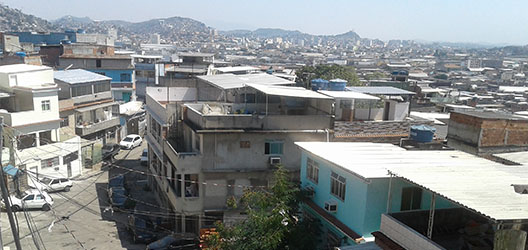 View of the Timbau neighbourhood in Rio de Janeiro