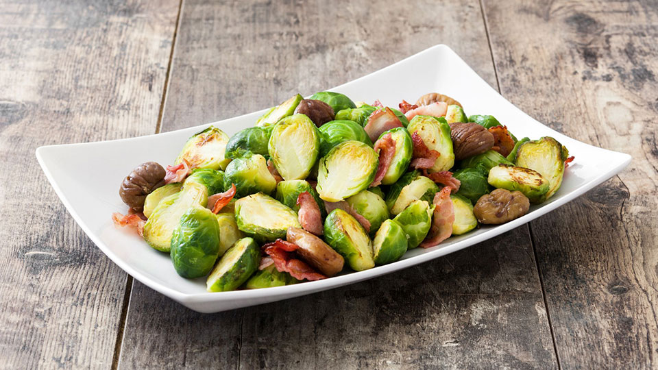 a photo of Brussels sprouts on a plate