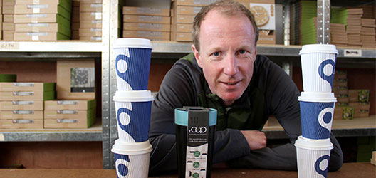 photo of Dan Dicker with his new product - rCup