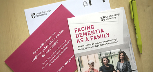 photo of the printed materials created for the Dementia campaign