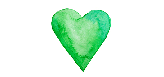 image of a green heart