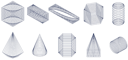 image of different digitalised shapes