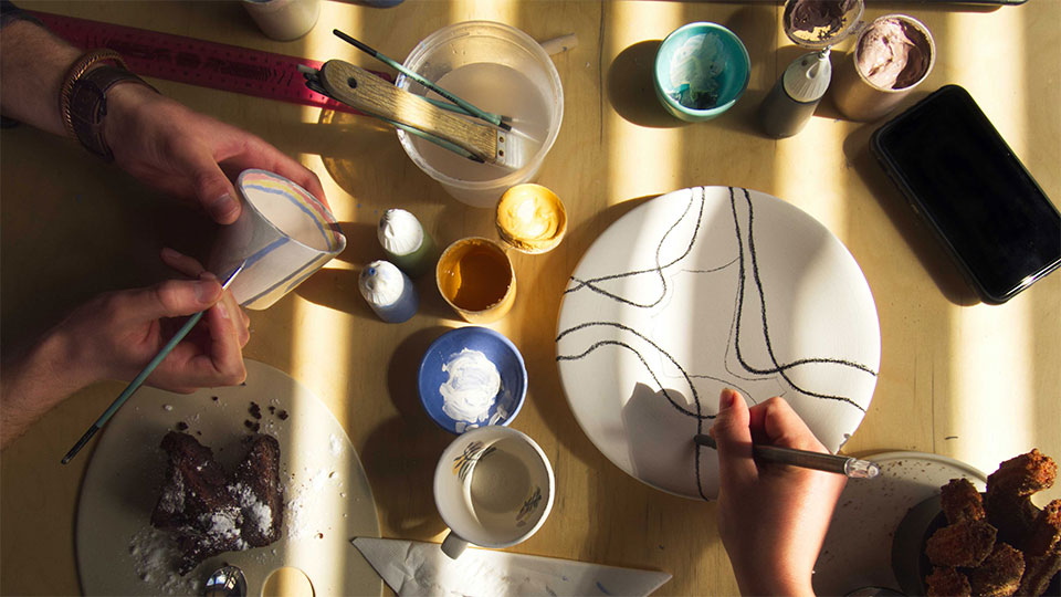 poster used to advertise LU Arts' Happy mondays events