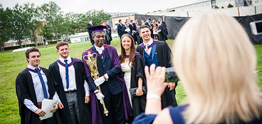 Picture of Loughborough students graduating