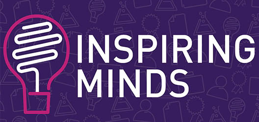 Inspiring Minds banner with lightbulb icon