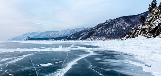 Pictured is Lake Baikal.