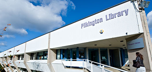 Front of Pilkington Library