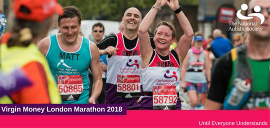 Poster to advertising running for the National Autistic Society