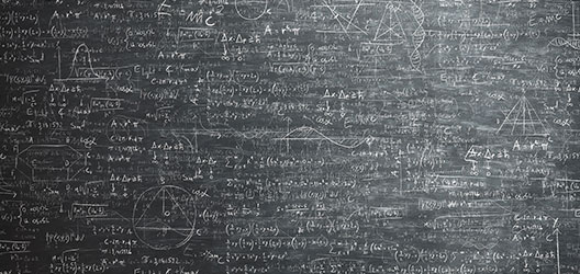 photo of a blackboard with different mathematical equations