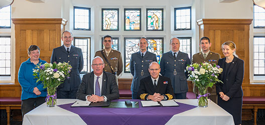 Memorandum of Understanding signing with military officials and university staff