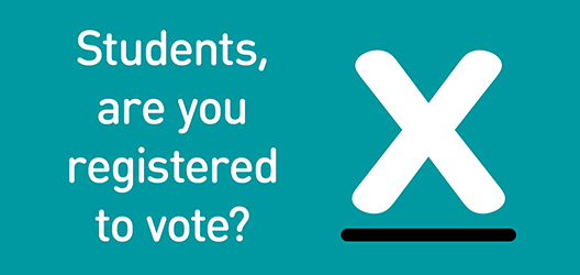 poster for campaign to get students to vote
