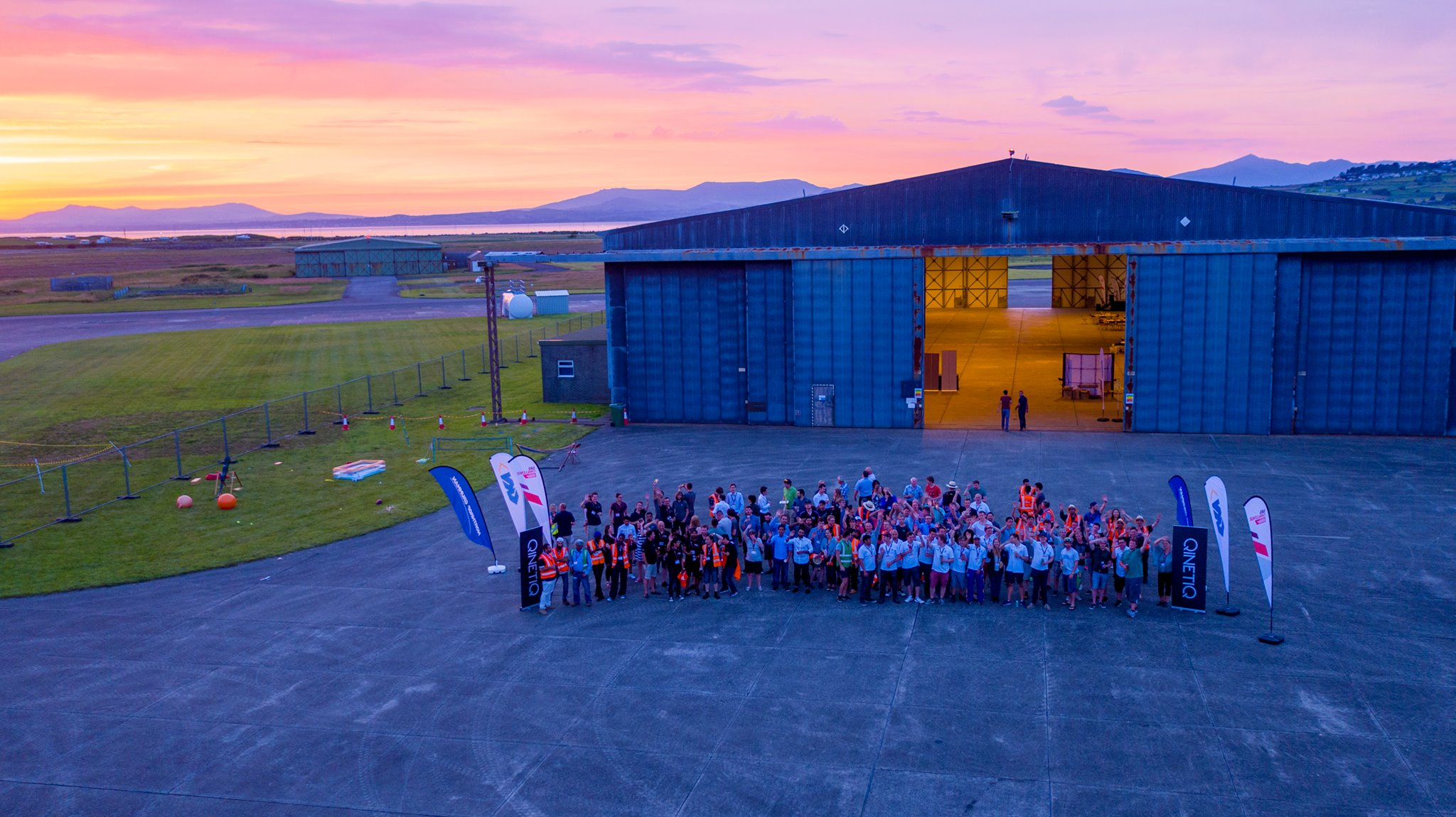 photo of last year's teams at the Snowdonia Aerospace Centre