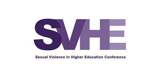 Pictured is the logo for the Sexual Violence in Higher Education Conference.