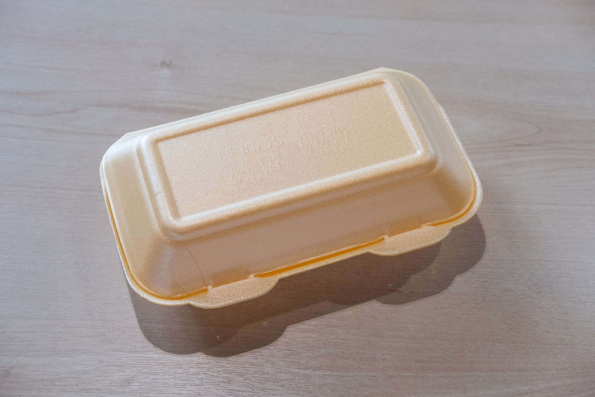 photo of a single-use disposable box