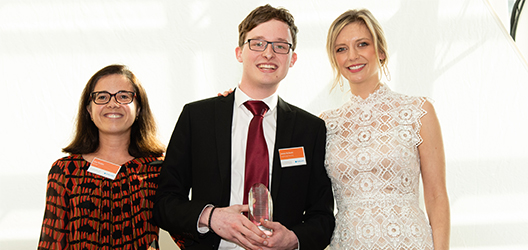 Student James McKevitt, undergraduate of the year for Innovation