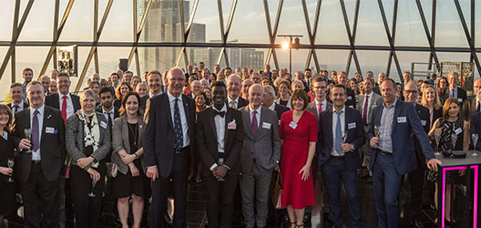 Guests in attendance at Vice Chancellor's reception in London