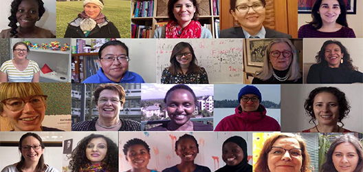 Pictured are women in the Faces of Women in Mathematics film.
