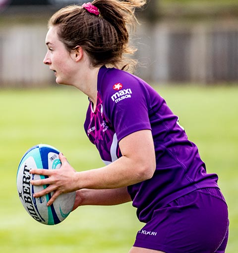 Loughborough Lightning rugby player during game