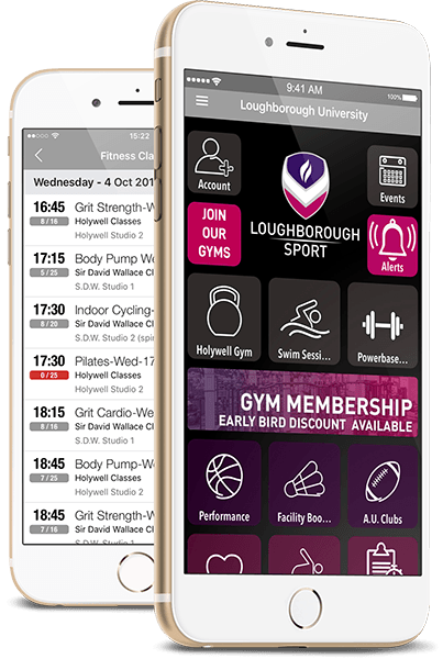 Loughborough Sport app screenshots